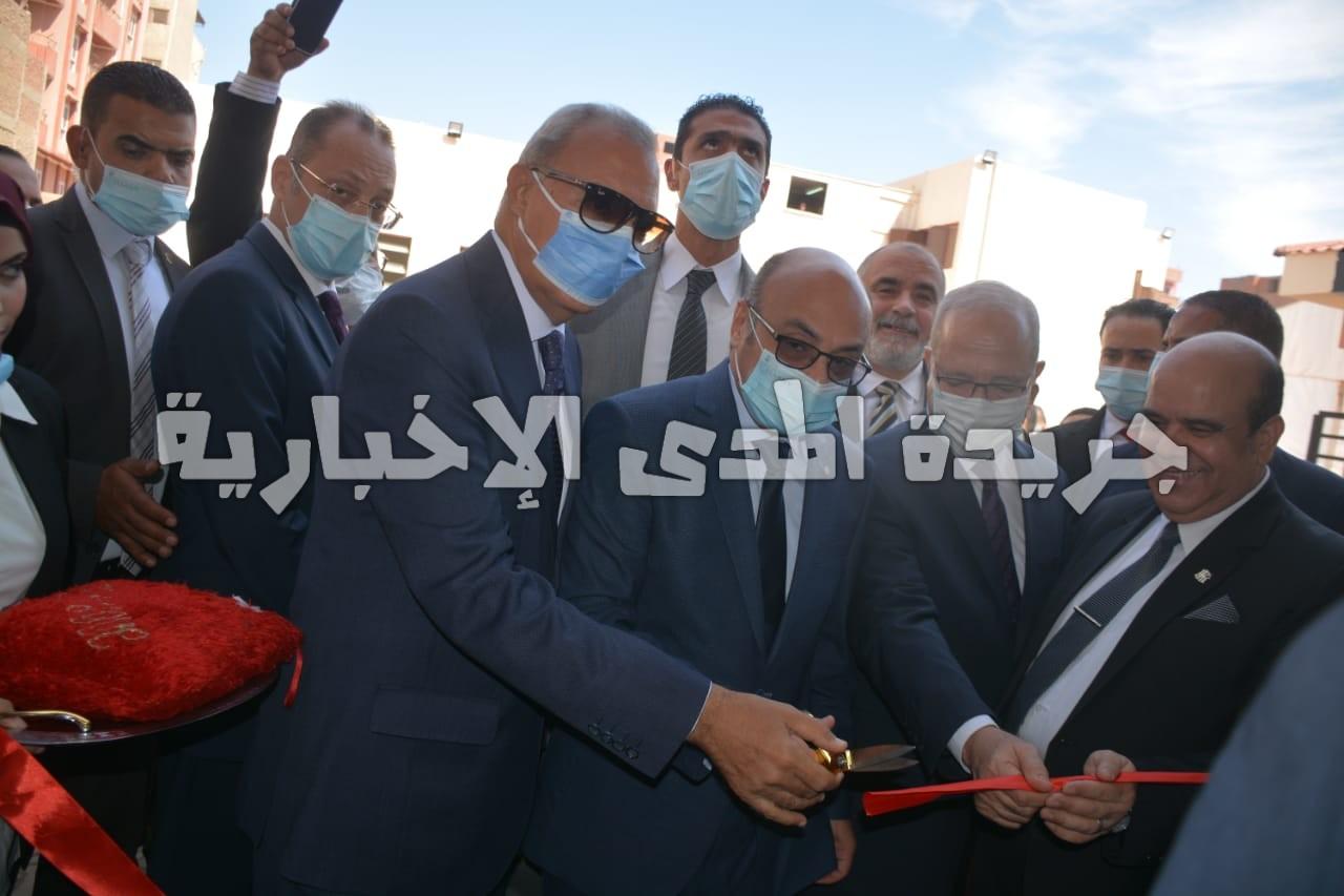 وزير العدل و محافظ القليوبية  يفتتحان مبنى محكمة طوخ بعد تطويره
